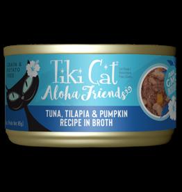 Tiki Tiki Cat Aloha Friends Canned Cat Food Tuna w/ Tilapia & Pumpkin 3 oz single