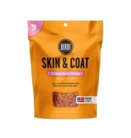 Bixbi Bixbi Jerky Dog Treats Skin & Coat Salmon 4 oz