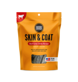 Bixbi Bixbi Jerky Dog Treats Skin & Coat Beef Liver 12 oz