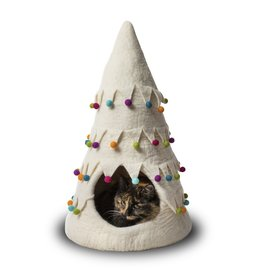 Distinctly Himalayan Distinctly Himalayan Felt Pet Cave Bouquet Christmas Tree White