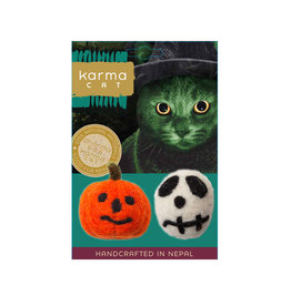Distinctly Himalayan Distinctly Himalayan Halloween Cat Toys | Skull & Pumpkin 2 pk