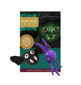 Distinctly Himalayan Distinctly Himalayan Halloween Cat Toys | Bat & Spider 2 pk