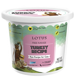 Lotus Natural Pet Food Lotus Frozen Raw Cat Food | Free Range Turkey 24 oz (*Frozen Products for Local Delivery or In-Store Pickup Only. *)