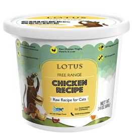 Lotus Natural Pet Food Lotus Frozen Raw Cat Food | Free Range Chicken 24 oz (*Frozen Products for Local Delivery or In-Store Pickup Only. *)