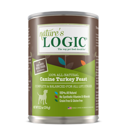 Nature's Logic Nature's Logic Canned Dog Food Turkey 13.2 oz CASE