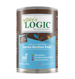 Nature's Logic Nature's Logic Canned Dog Food Sardine 13.2 oz CASE