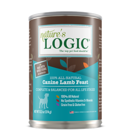 Nature's Logic Nature's Logic Canned Dog Food Lamb 13.2 oz CASE