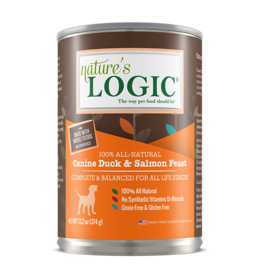 Nature's Logic Nature's Logic Canned Dog Food Duck & Salmon 13.2 oz CASE