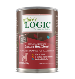 Nature's Logic Nature's Logic Canned Dog Food Beef 13.2 oz single