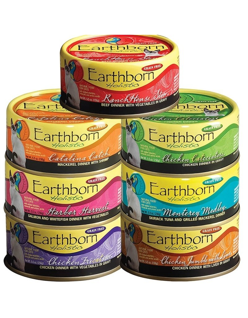 Earthborn Holistic Earthborn Holistic Cat Canned Food Harbor Harvest Salmon & Whitefish with Vegetables 5.5 oz CASE