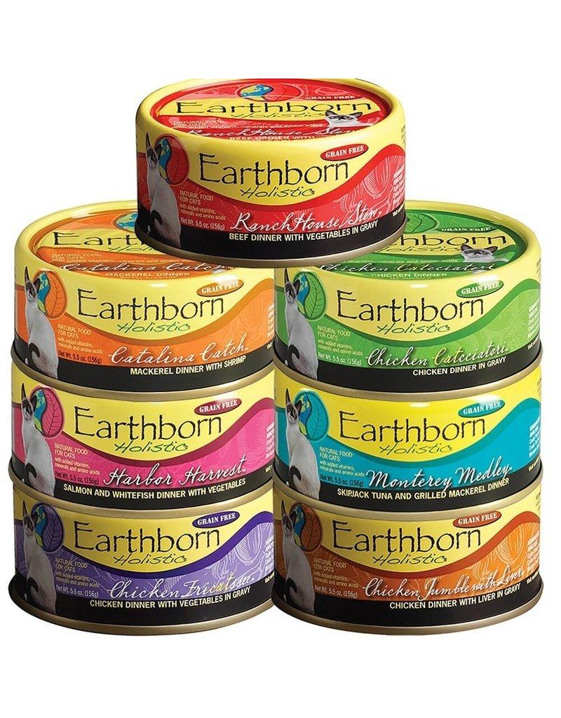 Earthborn Holistic Earthborn Holistic Cat Canned Food Catalina Catch Mackerel & Shrimp 5.5 oz CASE