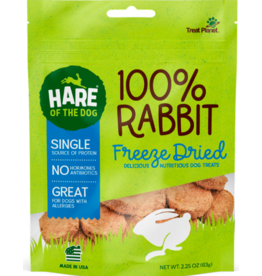 Treat Planet Hare of the Dog Freeze-Dried Treats | Rabbit 2.25 oz