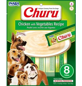 Inaba Inaba Churu Puree Dog Treats Chicken & Vegetables 8 pk