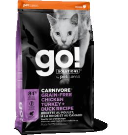 Petcurean Petcurean Go! Carnivore Cat Kibble Grain-Free Chicken Turkey Duck 8 lb