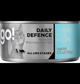 Petcurean Petcurean Go! Daily Defence Canned Cat Food Turkey Pate 5.5 oz single