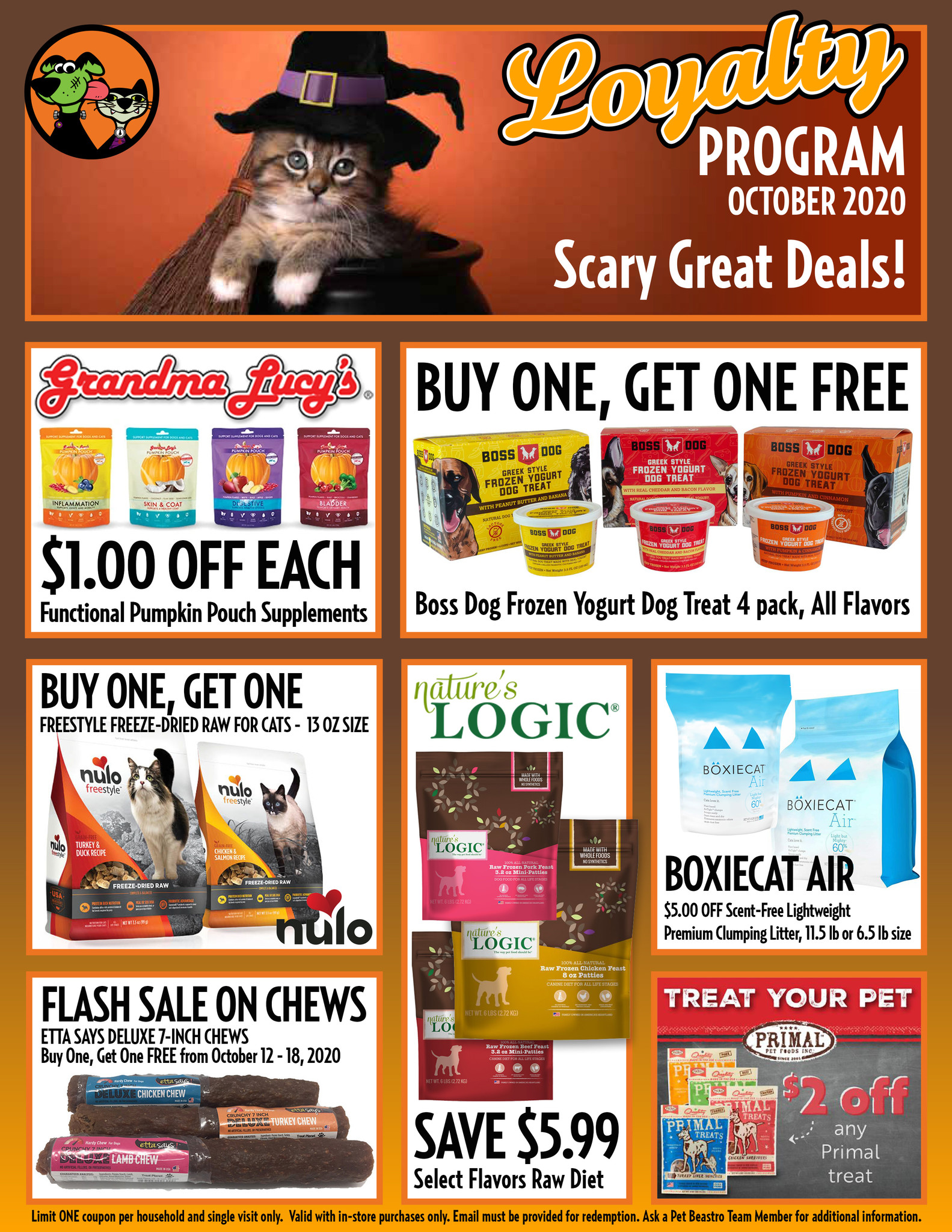 Spooktacular October Specials For Your Cat & Dog!