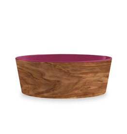 TarHong TarHong Pet Food Bowl | Olive Magenta Medium