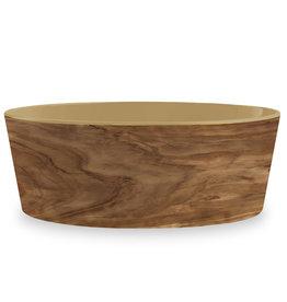 TarHong DISC TarHong Pet Food Bowl | Olive Natural Large