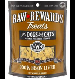 Northwest Naturals Northwest Naturals Raw Rewards Treats | Bison Liver 3 oz
