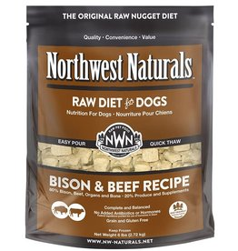 Northwest Naturals Northwest Naturals Frozen Dog Food Bison & Beef 6 lb CASE (*Frozen Products for Local Delivery or In-Store Pickup Only. *)