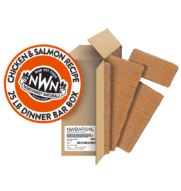 Northwest Naturals Northwest Naturals Frozen Bars Chicken & Salmon 25 lb CASE (*Frozen Products for Local Delivery or In-Store Pickup Only. *)