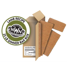 Northwest Naturals Northwest Naturals Frozen Bars Lamb 25 lb CASE (*Frozen Products for Local Delivery or In-Store Pickup Only. *)