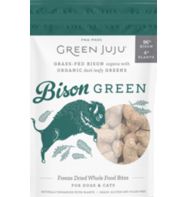 Green Juju Green Juju Freeze Dried Treats | Bison Green 6 oz