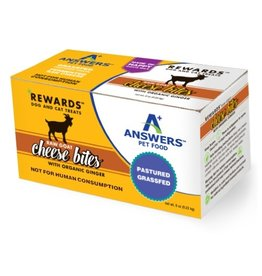 Answer's Pet Food Answers Rewards Raw Goat Cheese Treats Ginger 8 oz (*Frozen Products for Local Delivery or In-Store Pickup Only. *)