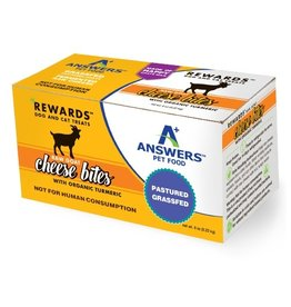 Answer's Pet Food Answers Rewards Raw Goat Cheese Treats Tumeric 8 oz (*Frozen Products for Local Delivery or In-Store Pickup Only. *)