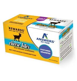 Answer's Pet Food Answers Rewards Raw Goat Cheese Treats Blueberries 8 oz (*Frozen Products for Local Delivery or In-Store Pickup Only. *)