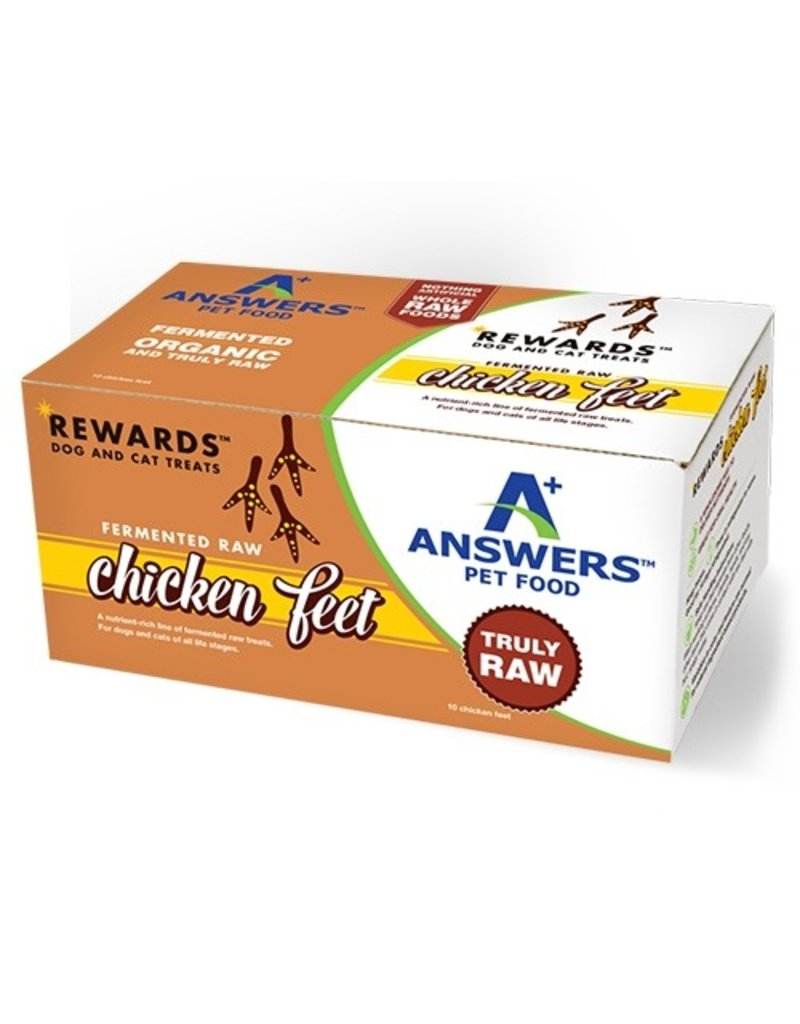 Answer's Pet Food Answers Frozen Fermented Chicken Feet for Dogs & Cats 10 ct (*Frozen Products for Local Delivery or In-Store Pickup Only. *)