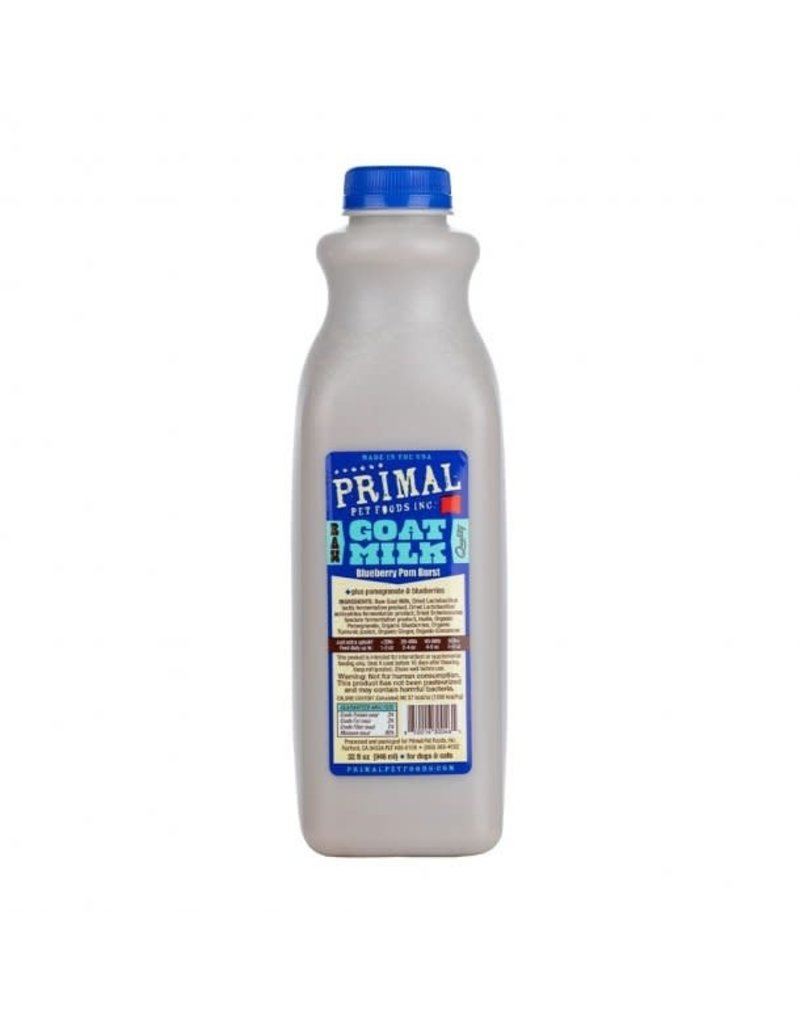 Primal Pet Foods Primal Frozen Raw Goat Milk | Blueberry Pom Burst 32 oz (*Frozen Products for Local Delivery or In-Store Pickup Only. *)