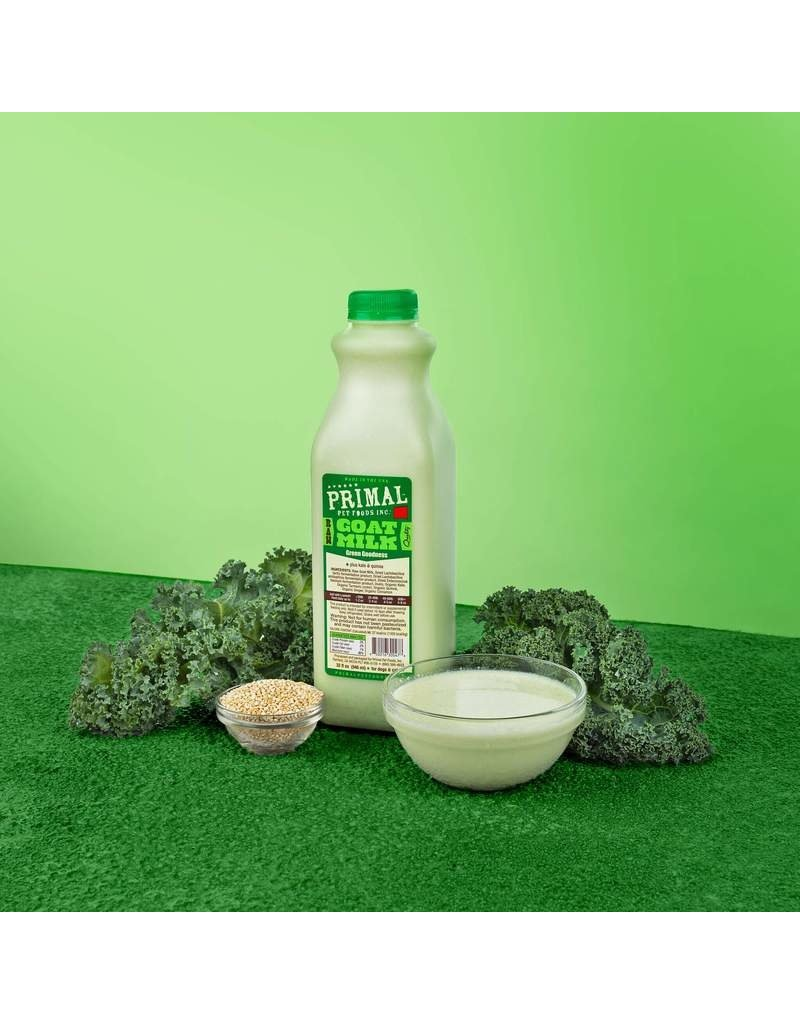 Primal Pet Foods Primal Frozen Raw Goat Milk | Green Goodness 32 oz (*Frozen Products for Local Delivery or In-Store Pickup Only. *)
