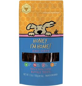 Honey Im Home Honey I'm Home Dog Treats | Buffalo Jerky Strips 3.5 oz