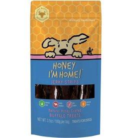 Honey Im Home Honey I'm Home Dog Treats | Buffalo Jerky Strips 3.5 oz