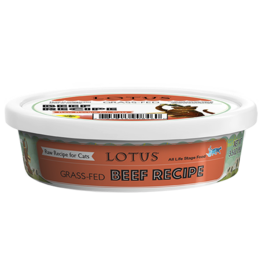 Lotus Natural Pet Food Lotus Frozen Raw Cat Food | Grass Fed Beef 3.5 oz (*Frozen Products for Local Delivery or In-Store Pickup Only. *)