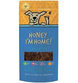 Honey Im Home Honey I'm Home Dog Treats | Buffalo Lung Bites 3.1 oz
