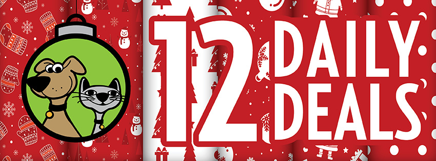 12 Days of Daily Deals For Cats & Dogs