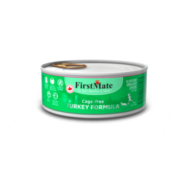 Firstmate FirstMate LID Canned Cat Food Cage Free Turkey 5.5 oz CASE