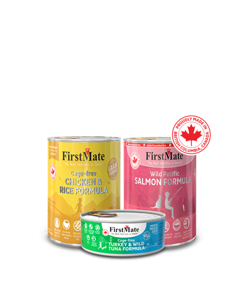 Firstmate FirstMate LID Canned Cat Food Wild Salmon 5.5 oz CASE
