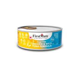 Firstmate FirstMate LID Canned Cat Food Chicken & Tuna 5.5 oz CASE