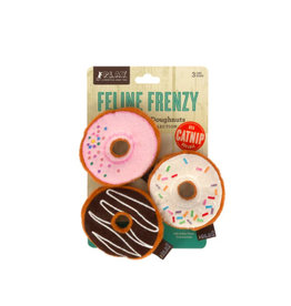 PLAY P.L.A.Y. Feline Frenzy Cat Toys | Kitty Kreme Doughnuts 3 pk