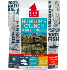 Plato Plato Dog Treats Hundur's Crunch Jerky Fingers 10 oz