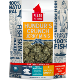 Plato Plato Dog Treats Hundur's Crunch Jerky Minis 10 oz