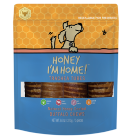 Honey Im Home Honey I'm Home Dog Treats l Buffalo Trachea 5 pc