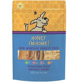 Honey Im Home Honey I'm Home Dog Treats l Buffalo Mini Muncher Variety Pack 6 pc