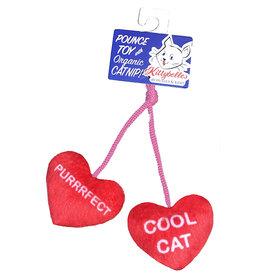 Huxley & Kent Huxley & Kent Kittybelles Cat Toy l Heart Strings