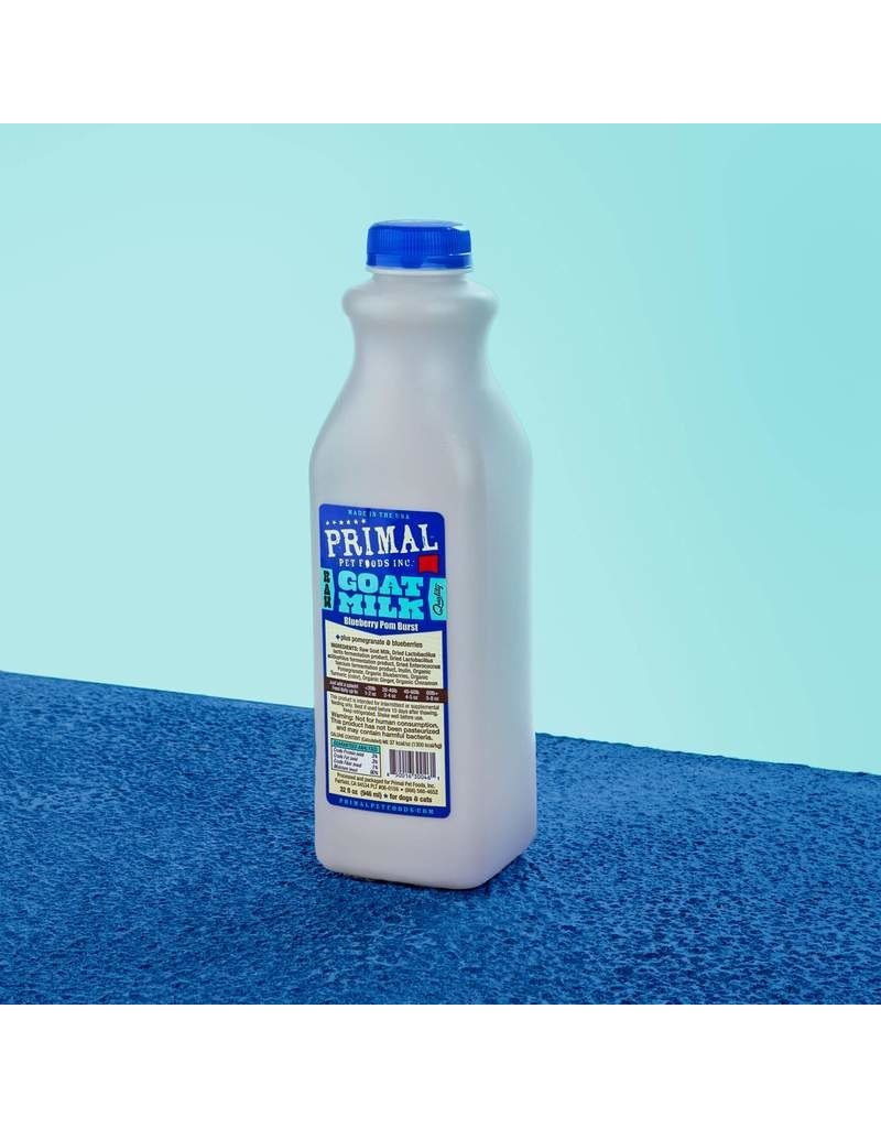Primal Pet Foods Primal Frozen Raw Goat Milk | Blueberry Pom Burst 32 oz CASE (*Frozen Products for Local Delivery or In-Store Pickup Only. *)
