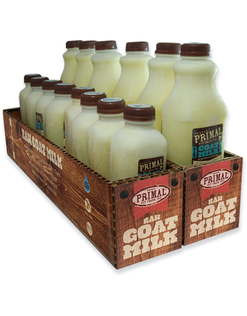 Primal Pet Foods Primal Frozen Raw Goat Milk 64 oz CASE (*Frozen Products for Local Delivery or In-Store Pickup Only. *)