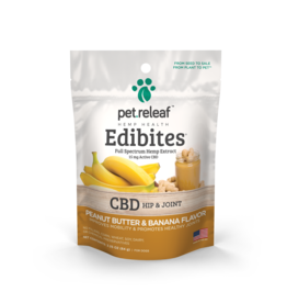 Pet Releaf Pet Releaf Edibites | CBD Hip & Joint Peanut Butter & Banana Trial Size 2.5 oz